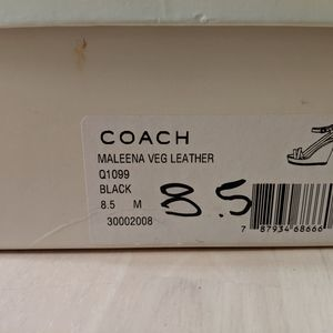 Coach Shoes - Coach Leather Wedge